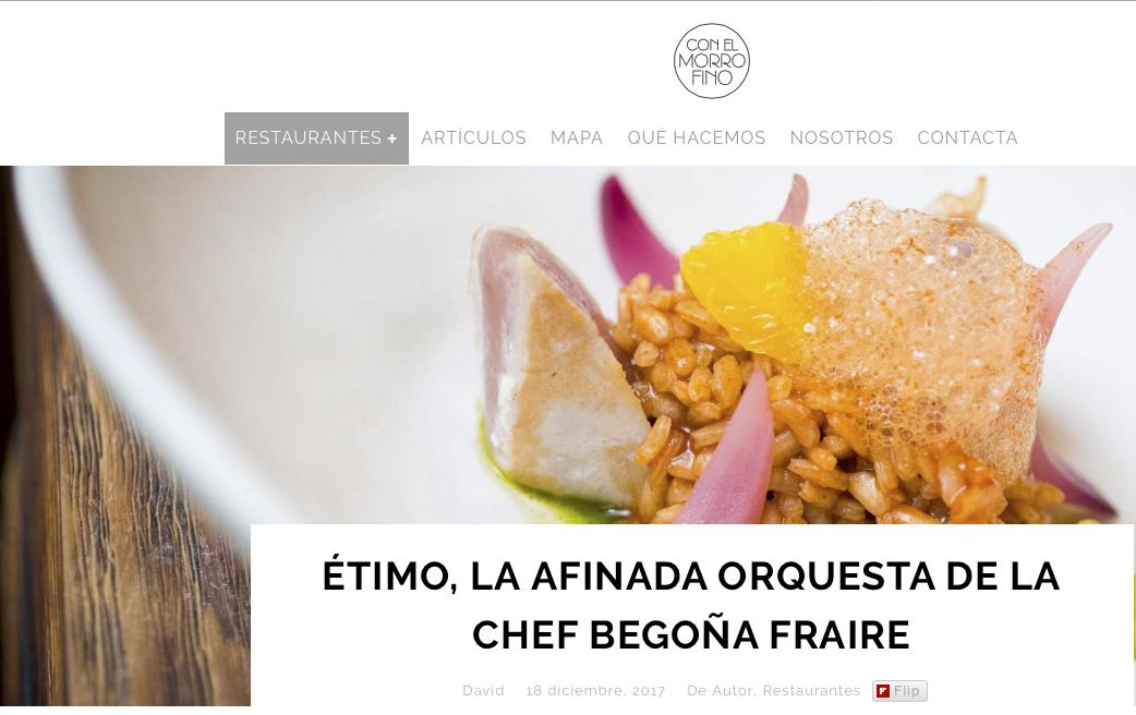 ÉTIMO, LA AFINADA ORQUESTA DE LA CHEF BEGOÑA FRAIRE