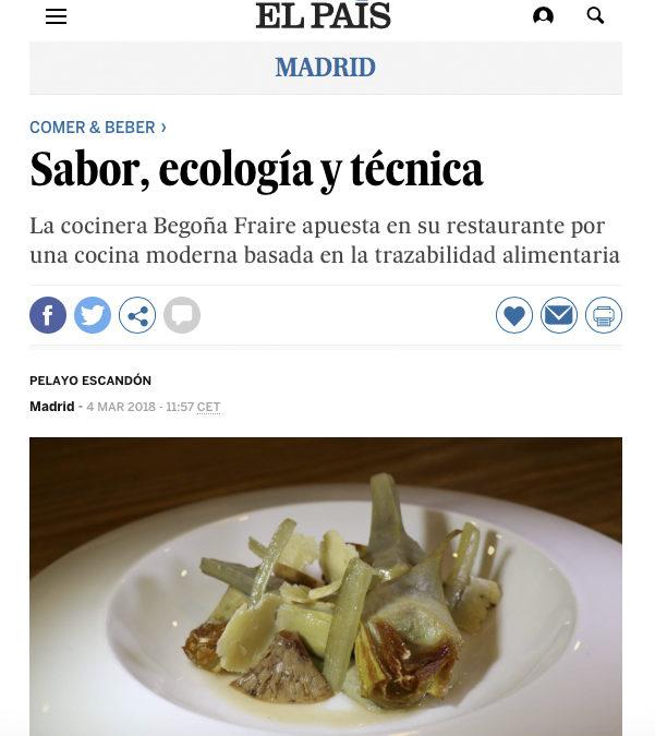 Sabor, ecología y técnica